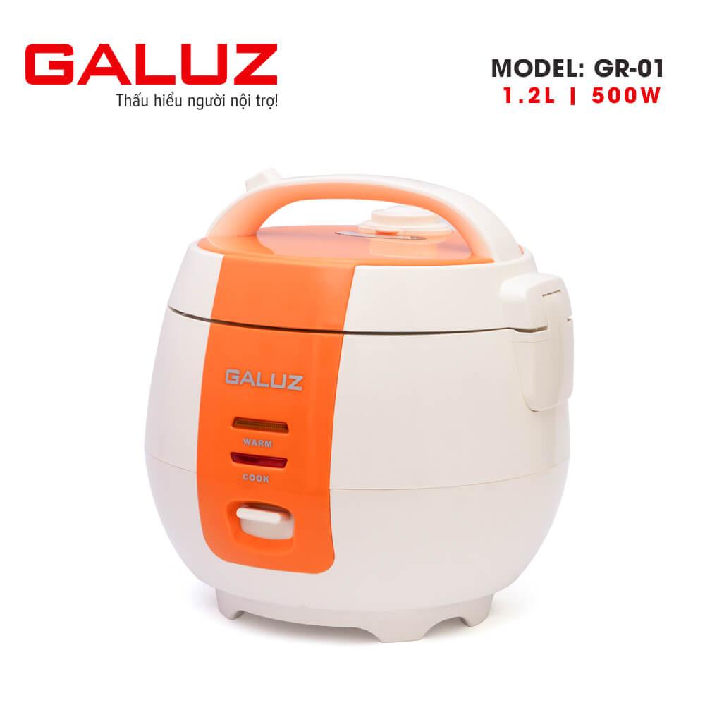 Nồi cơm điện Galuz GR-01 dung tích 1.2L (xanh-cam)